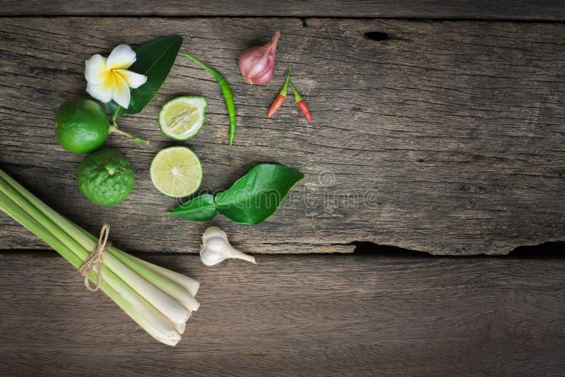 Tajlandzki jedzenie, lemongrass, lemongrass fotografia stock
