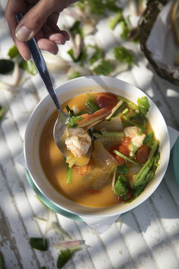 Tajlandzki jedzenie - Tom Goung Yum obrazy stock