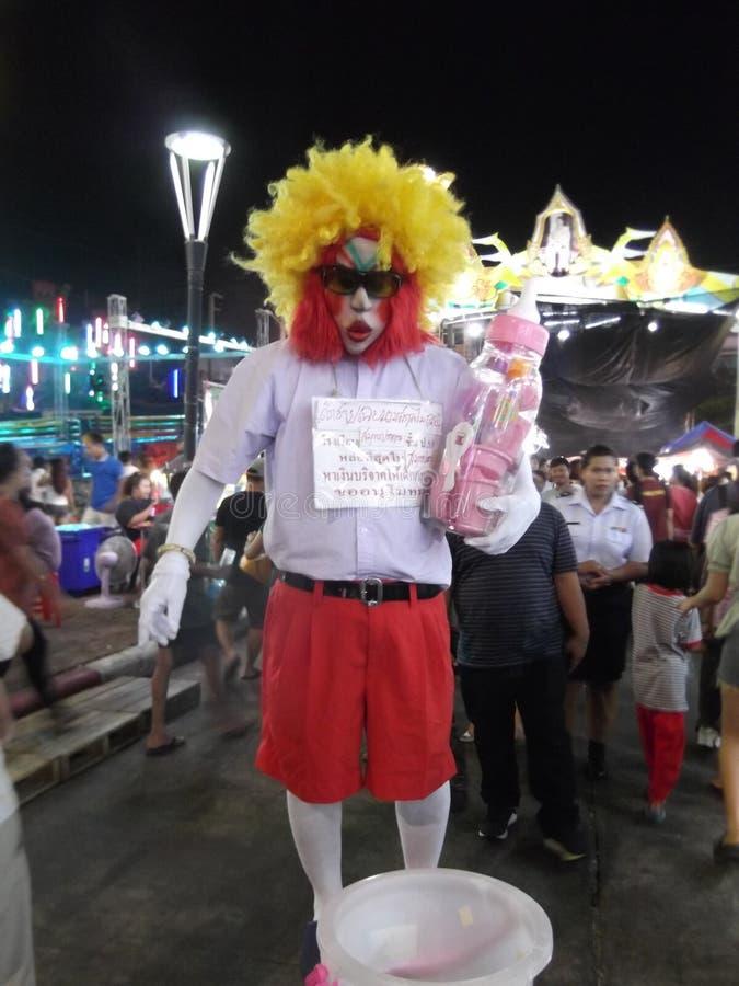 Tajlandzki joker w ulicie, Buddha festiwal, Samutprakarn, Tajlandia fotografia stock