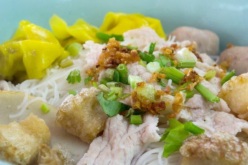 Tajlandzki kluski, Tajlandzki jedzenie zdjęcia royalty free