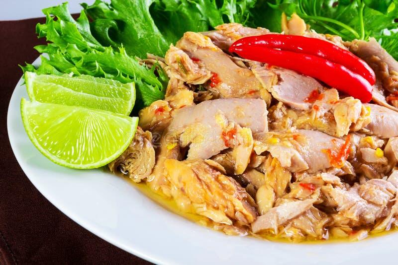 Tajlandzki korzenny tuńczyk zdjęcia royalty free