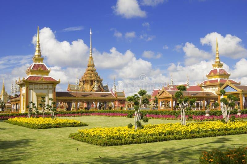 Tajlandzki Królewski Crematorium Bangkok Tajlandia fotografia royalty free