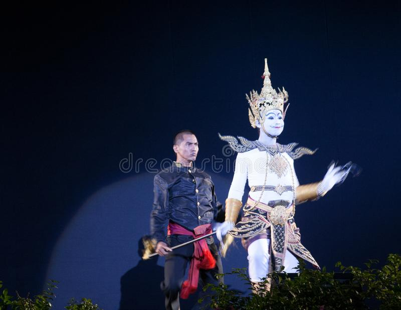 Tajlandzki kukie?kowy teatr zdjęcia stock