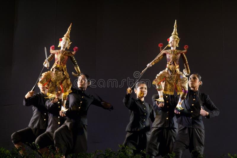 Tajlandzki kukie?kowy teatr zdjęcie royalty free
