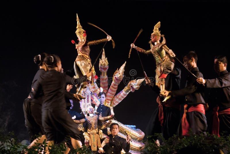 Tajlandzki kukie?kowy teatr zdjęcie stock