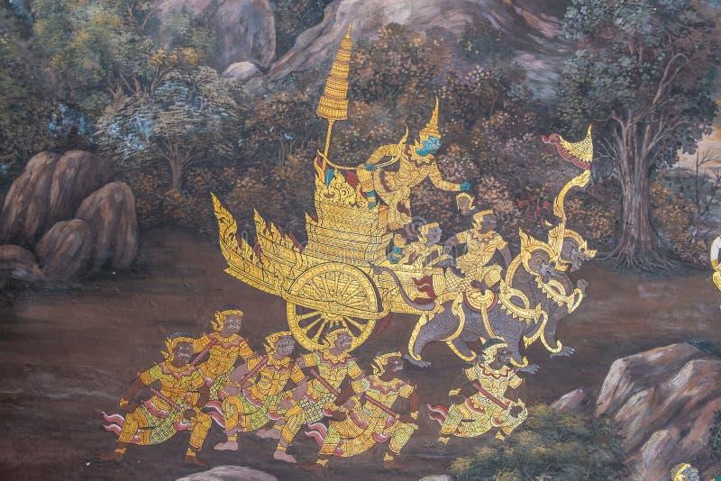 tajlandzki malowidło ścienne obraz obrazy stock