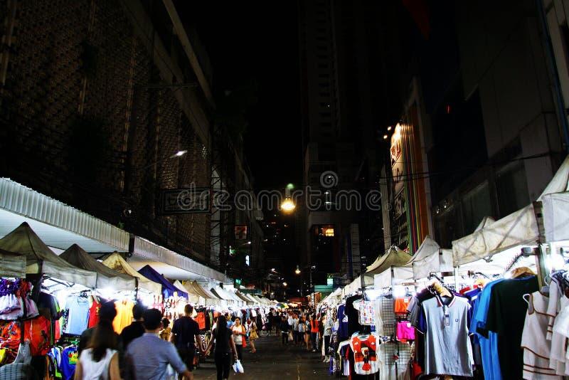 Tajlandzki noc rynek obrazy stock