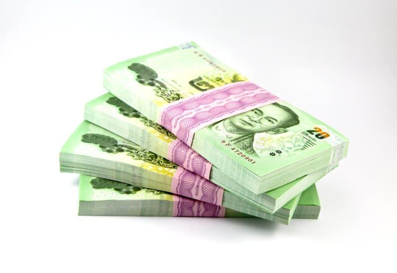 Tajlandzki pieniądze na białym tle zdjęcie stock