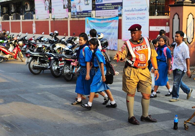 Tajlandzki policjant obraz stock