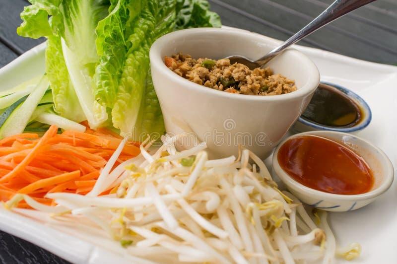 Tajlandzki sałata opakunek obraz stock