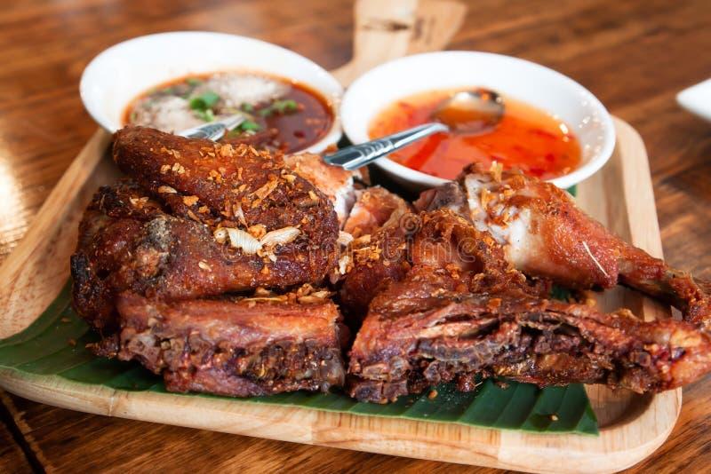 Tajlandzki styl piec na grillu kurczak z korzennym kumberlandem obraz stock