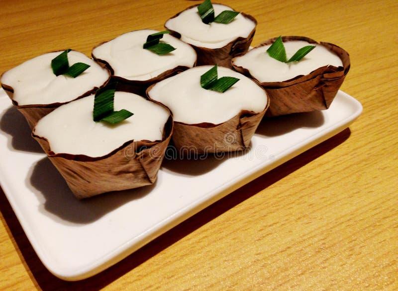Tajlandzki stylowy kokosowy pudding obrazy stock