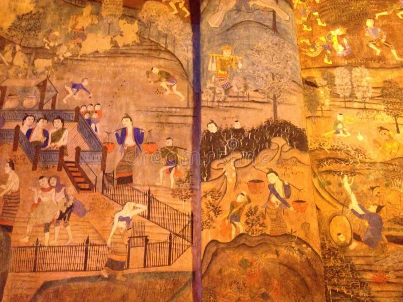 Tajlandzki sztuka morał zdjęcie royalty free