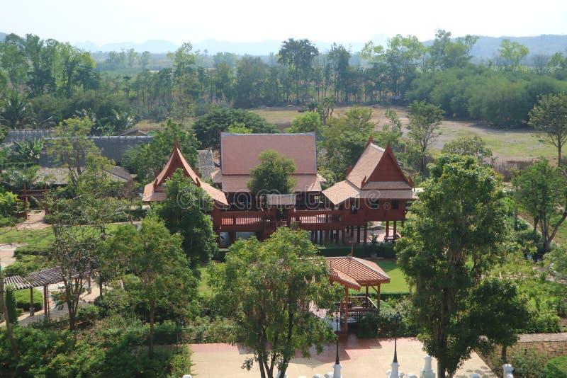 Tajlandzki tradycyjny dom fotografia stock