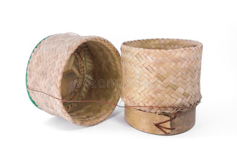 Tajlandzki tradycyjny drewniany ryżu pudełko obrazy royalty free