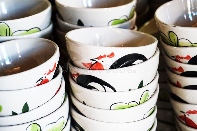 Tajlandzki tradycyjny pucharu kitchenware obraz stock