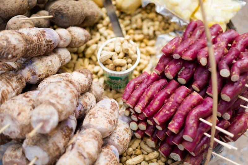 Tajlandzki warzywo skewers streetfood obraz stock