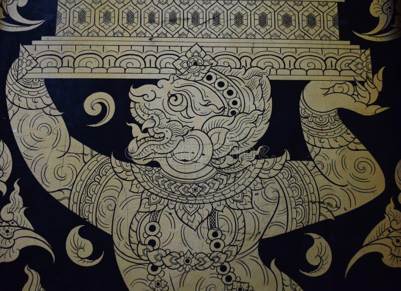 Tajlandzki złocisty obraz zdjęcie stock