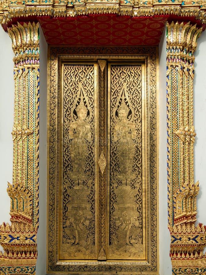 tajlandzki złocisty sztuka obraz zdjęcie royalty free