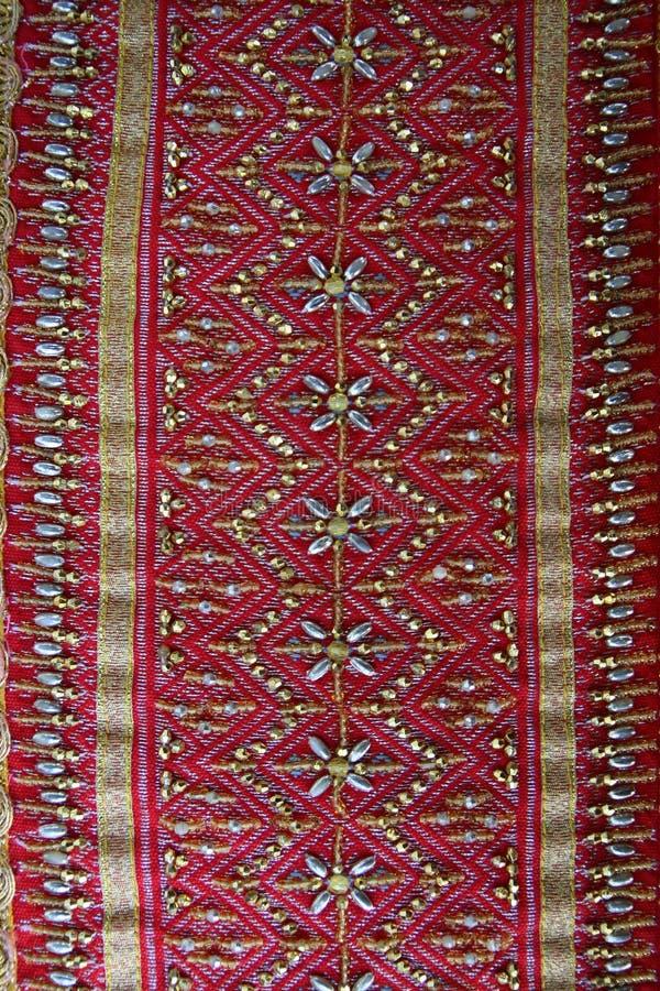 Tajlandzkich tkanina wzorów Tajlandzka grafika obrazy stock