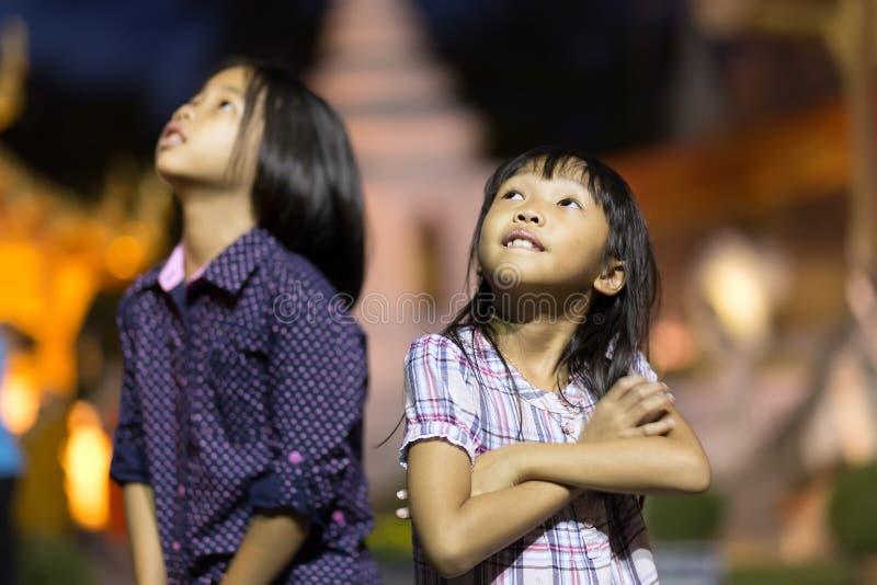 Tajlandzkie małe dziewczynki zdjęcie stock