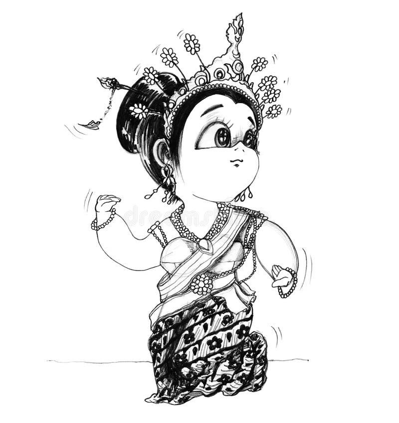 Download Tajlandzkiej Dziewczyny Dancingowa Centrala Lub Srivichai Taniec Kostium I Działanie Ilustracji - Ilustracja złożonej z ładny, ilustracje: 106907951