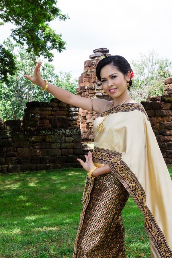Tajlandzkiej kobiety klasyczny tancerz zdjęcia royalty free