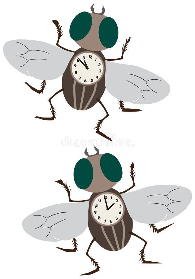 Tajma flugor royaltyfri illustrationer