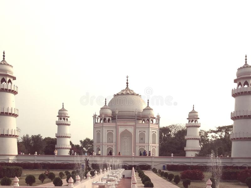 This is a tajmohol of bangladesh. It& x27;s standing on modonpur, narayangonj, bangladesh royalty free stock images