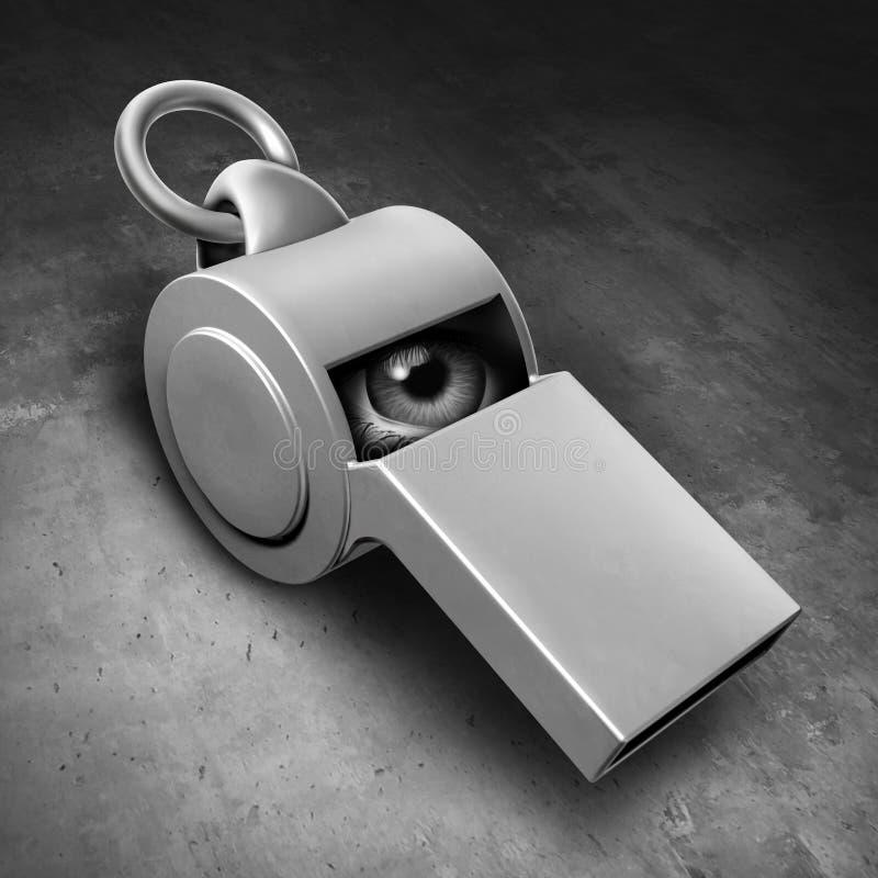 Tajna informator ochrona royalty ilustracja