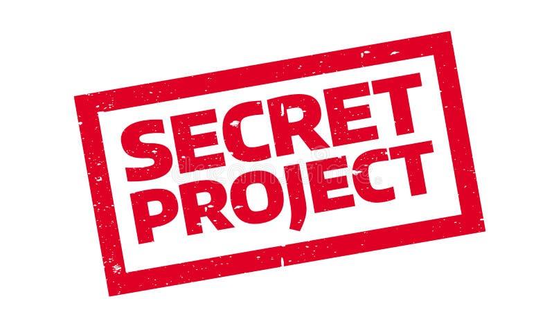 Tajna projekt pieczątka royalty ilustracja