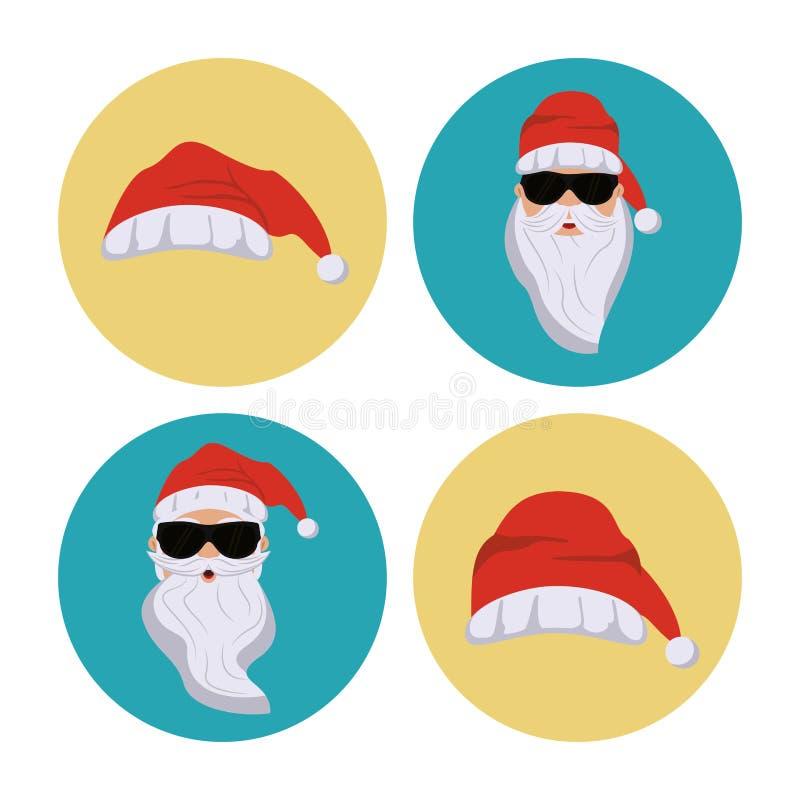 Tajne Santa ikony ilustracji