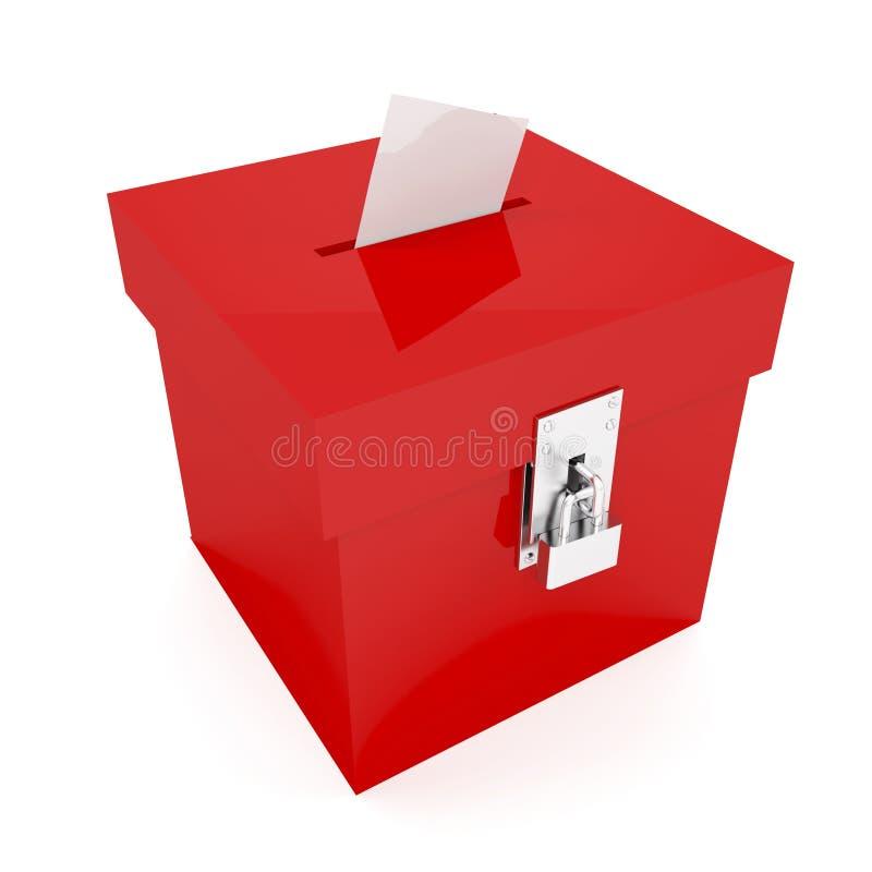 tajnego głosowania pudełka czerwień royalty ilustracja