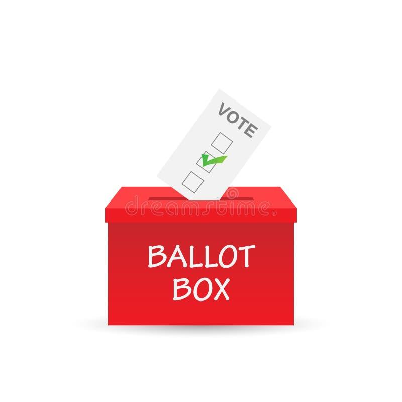 Tajnego głosowania pudełka ilustracja ilustracji