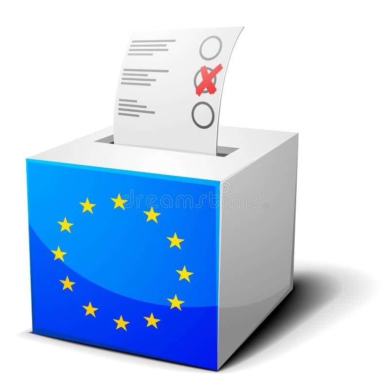 Tajnego głosowania pudełka UE royalty ilustracja