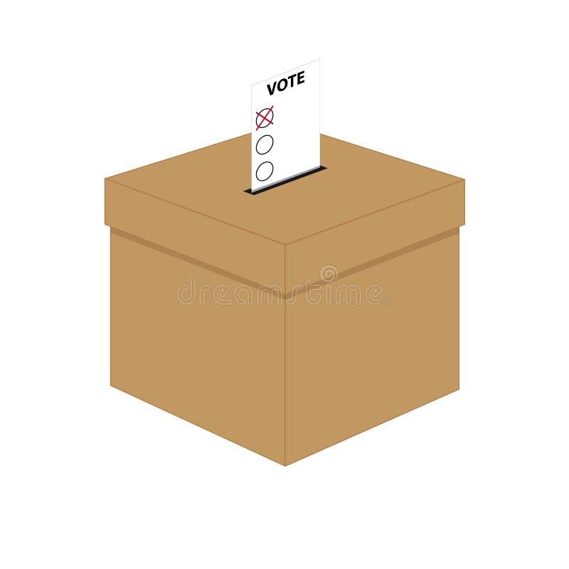 tajnego głosowania pudełko ilustracja wektor
