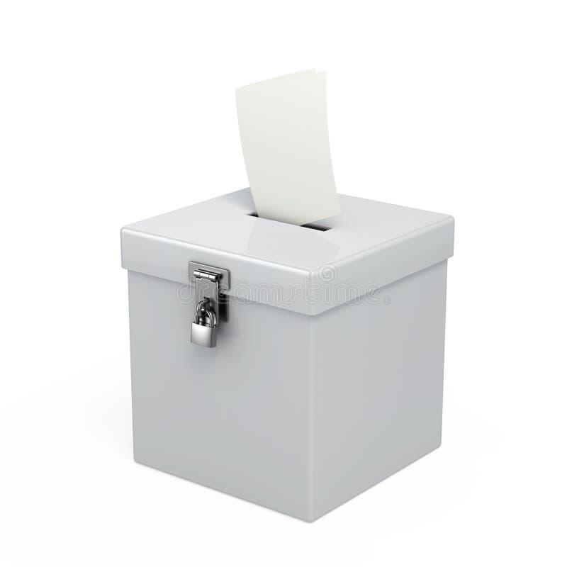 tajnego głosowania pudełko ilustracji