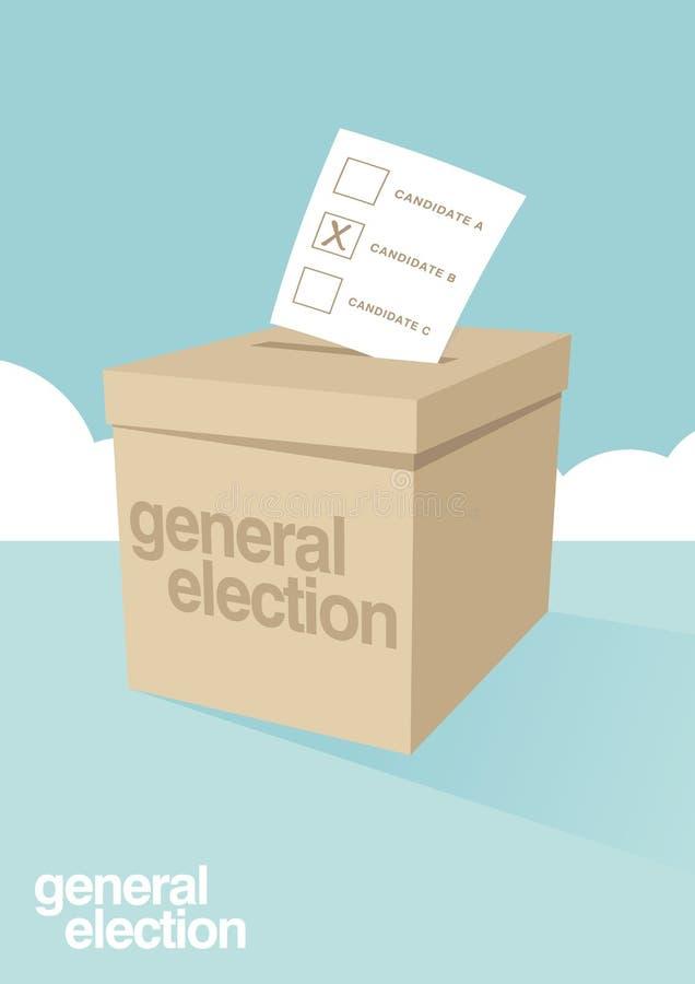 Tajnego głosowania pudełko dla wybory ilustracji