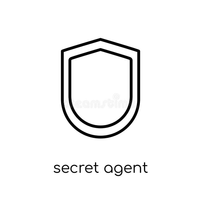 tajny agent ikona od wojsko kolekcji ilustracji