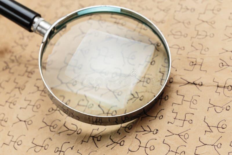 Tajny kod zdjęcie stock