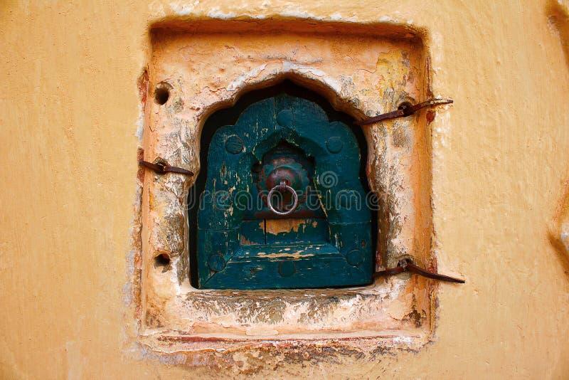 Tajny okno, Hawa Mahal, Rajasthan, India zdjęcie royalty free