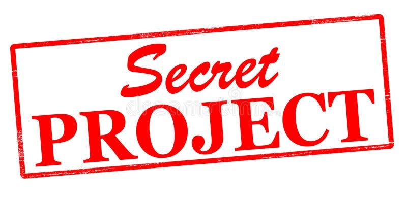Tajny projekt royalty ilustracja