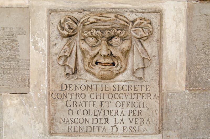 Tajnych oskarżeń listowy pudełko, Wenecja obrazy royalty free