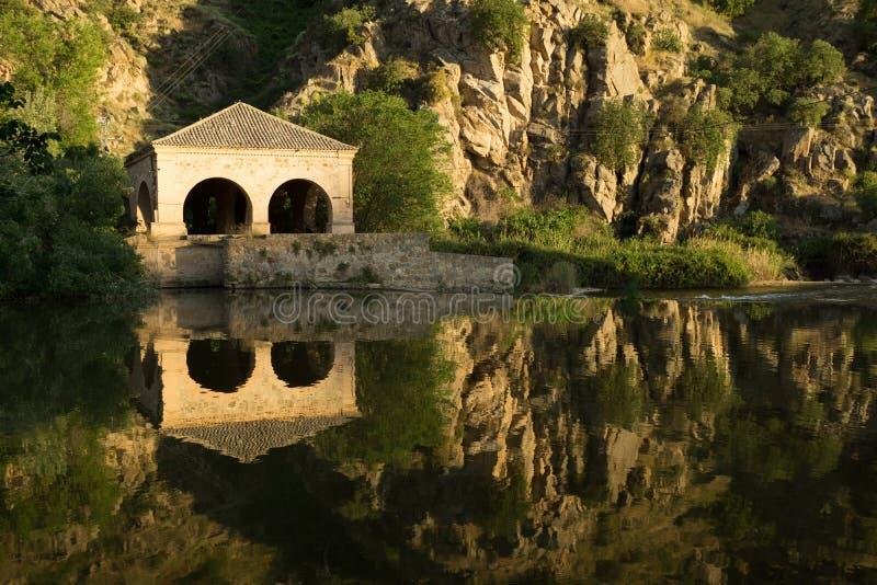 Tajo river landscape Toledo stock images