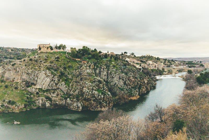 Tajo river in Toledo, Spain stock photos