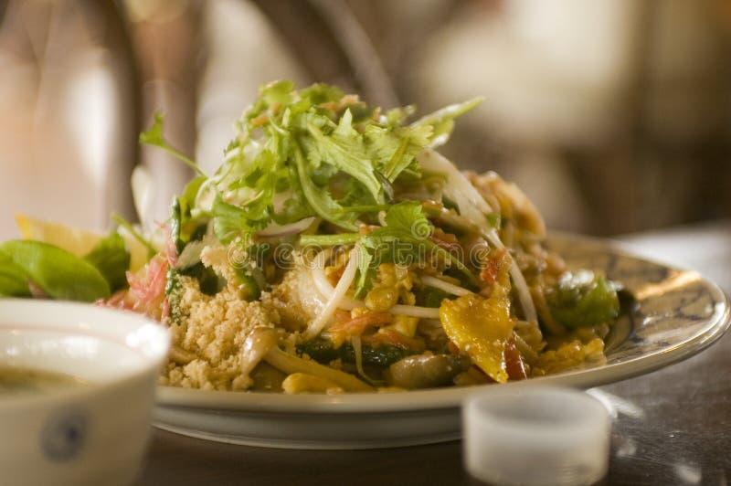 tajski jedzenia walcowane fotografia royalty free