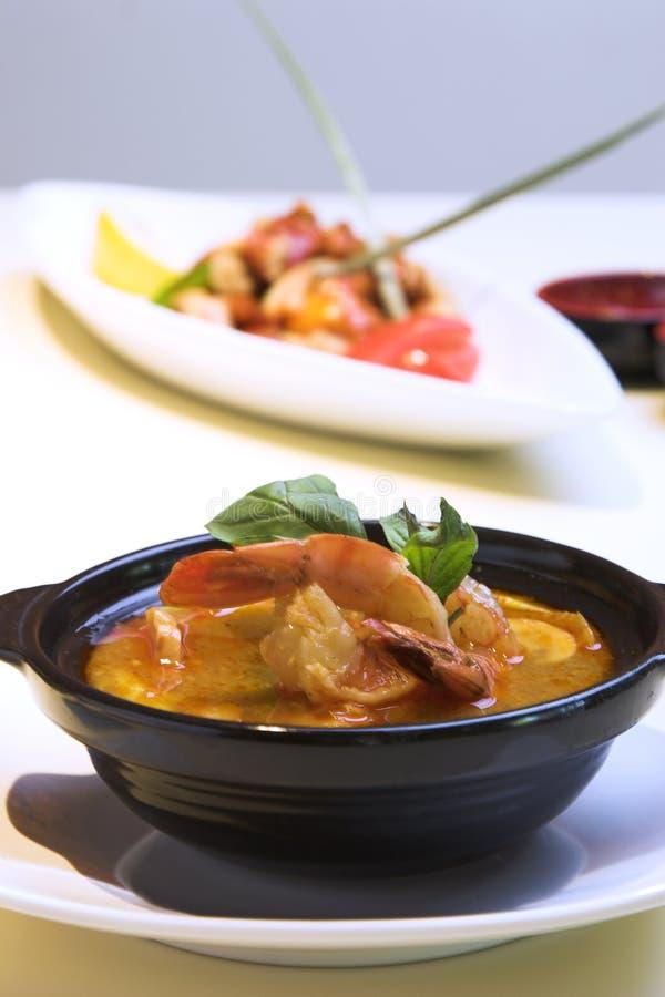 tajski zupy Tom jom obrazy stock
