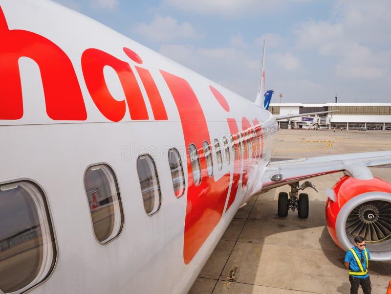 Tajskie linie lotnicze linii Don muang Internationale Airport Bangkok, tajlandia zdjęcia royalty free