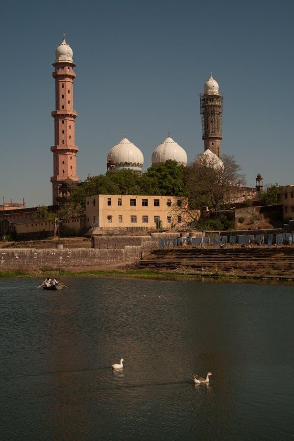 Tajul Mosque Bhopal Indien arkivfoton