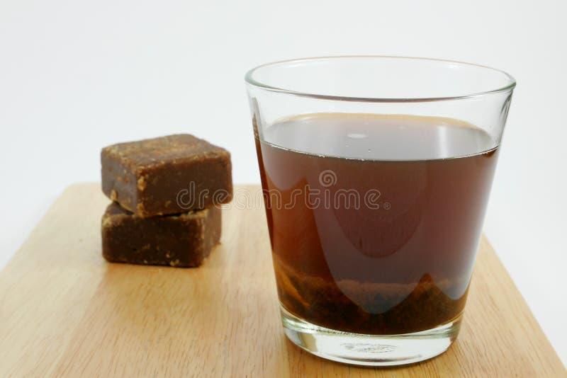 Tajwańscy brown cukieru imbirowi herbaciani sześciany zdjęcia royalty free